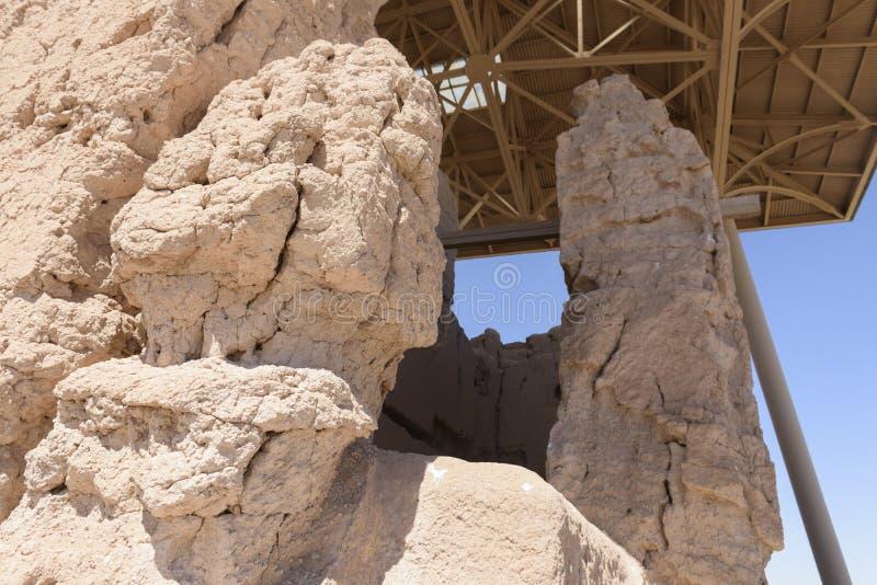 Mur à de grandes ruines de maison image libre de droits