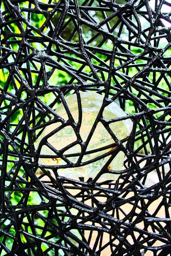 Mur abstrait en métal images libres de droits