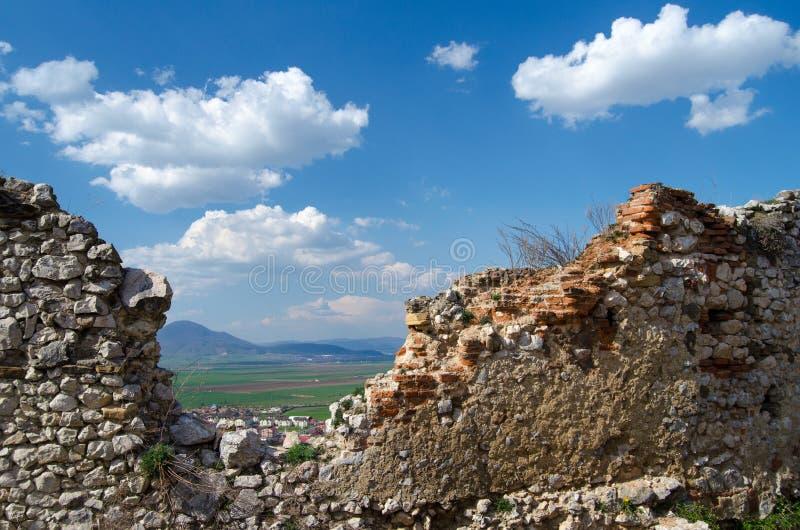 Mur antique dans la forteresse de Rasnov images stock