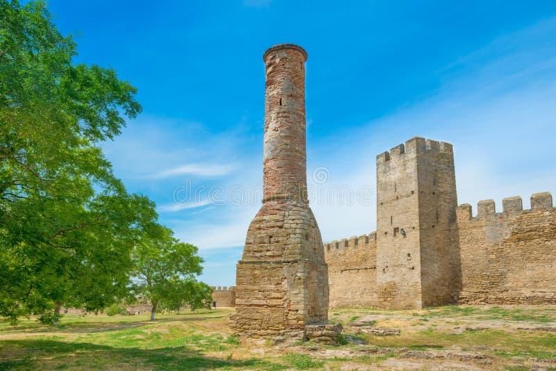 Mur antique de château en parc photos stock