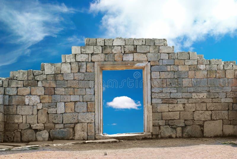 Mur avec l'entrée photo libre de droits