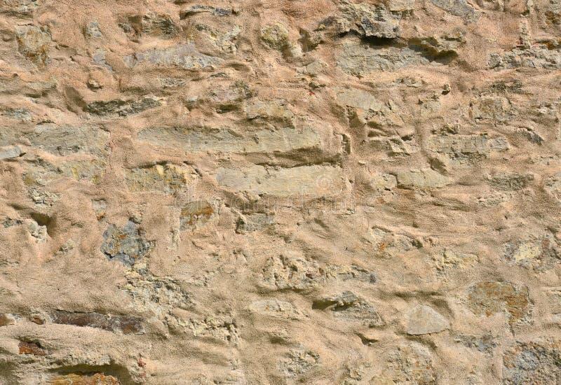 Mur avec le fond de mortier et de plâtre photos libres de droits