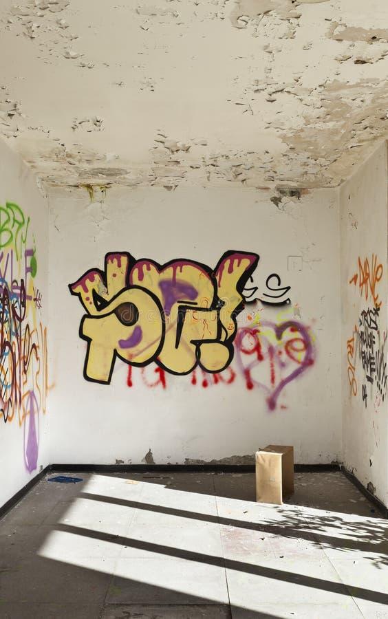 Mur avec le graffiti image libre de droits