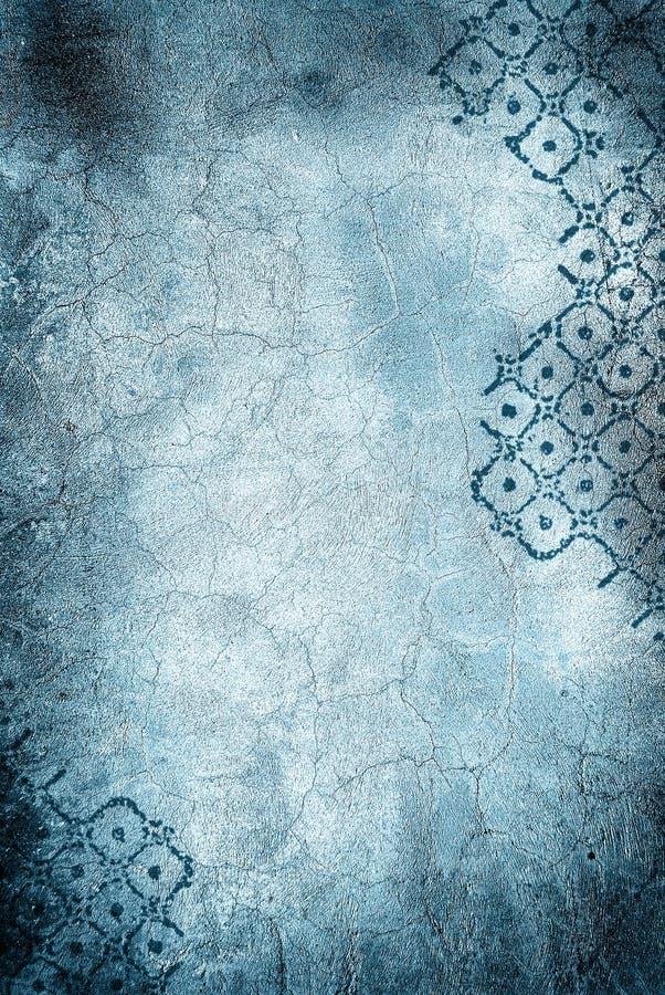Mur avec les fissures et le losange illustration stock