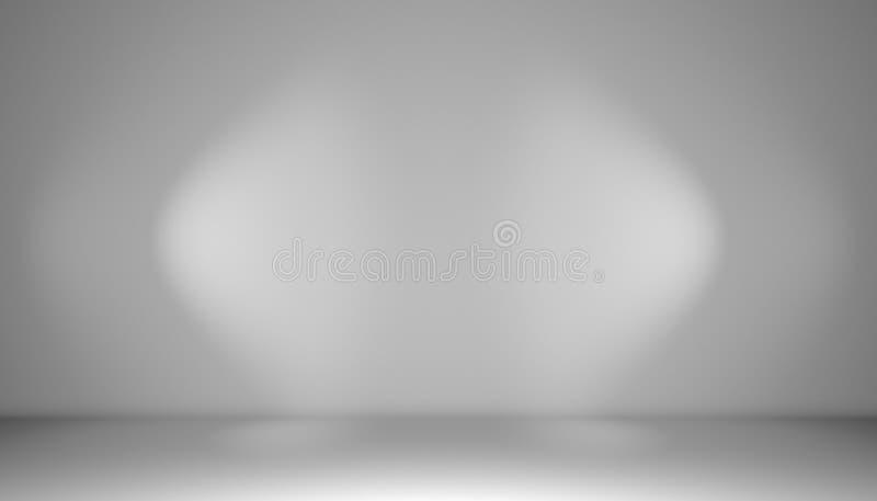 Mur blanc avec des projecteurs images libres de droits