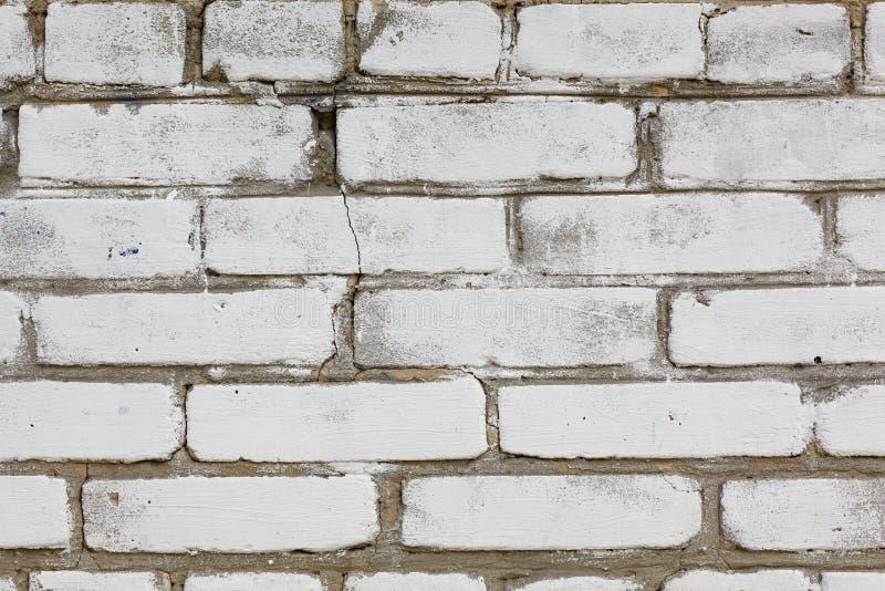 Mur blanc, mur de briques Texture Fond de construction images stock