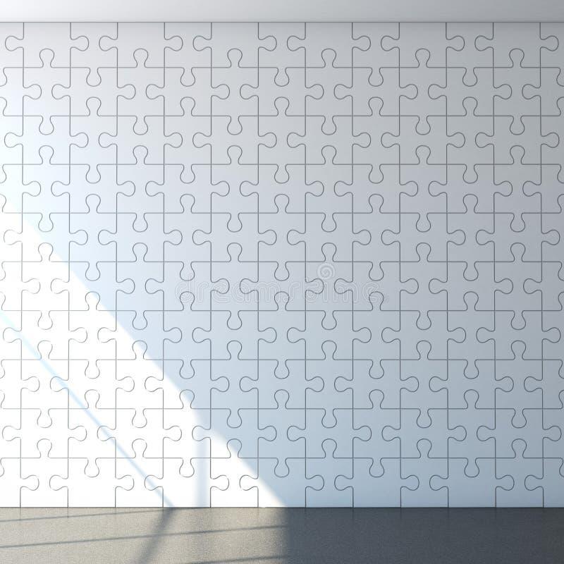 Mur blanc de puzzle illustration de vecteur