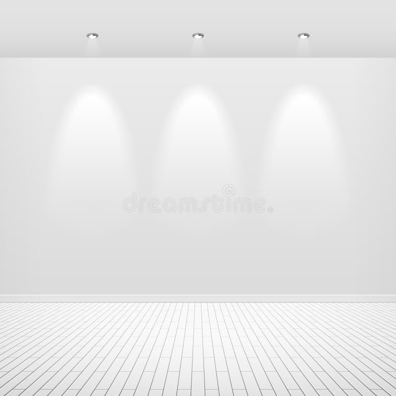 Mur blanc vide illustration de vecteur