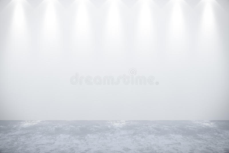 Mur blanc vide dans la chambre photographie stock