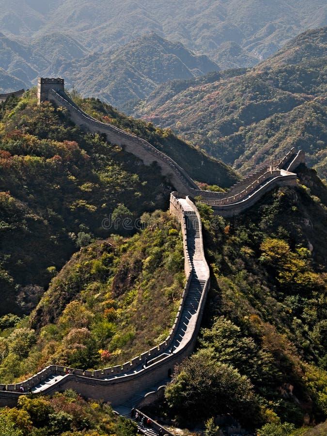 Mur chinois grand photo libre de droits