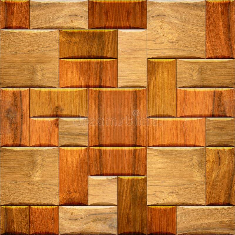 Mur décoratif de papier peint en bois - texture sans couture de fond photo stock