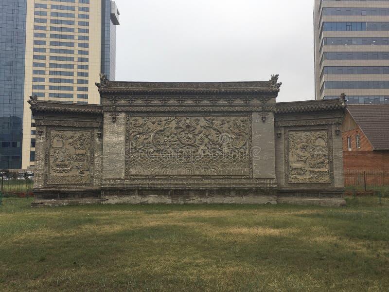 Mur découpé du musée photographie stock libre de droits