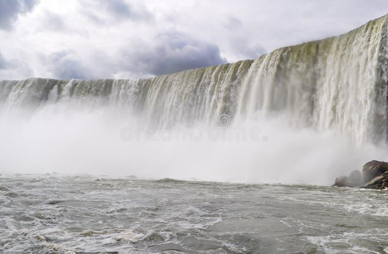 Mur d'eau aux chutes du Niagara photos stock