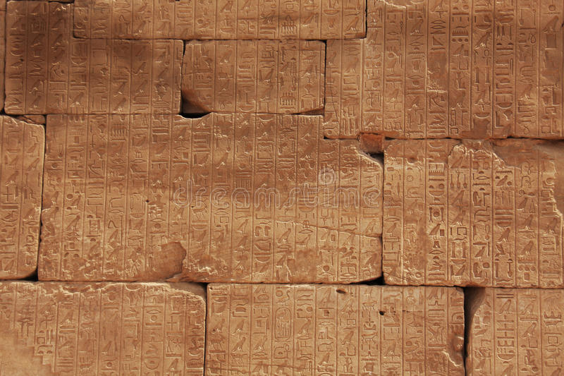 Mur d'hiéroglyphe photographie stock libre de droits