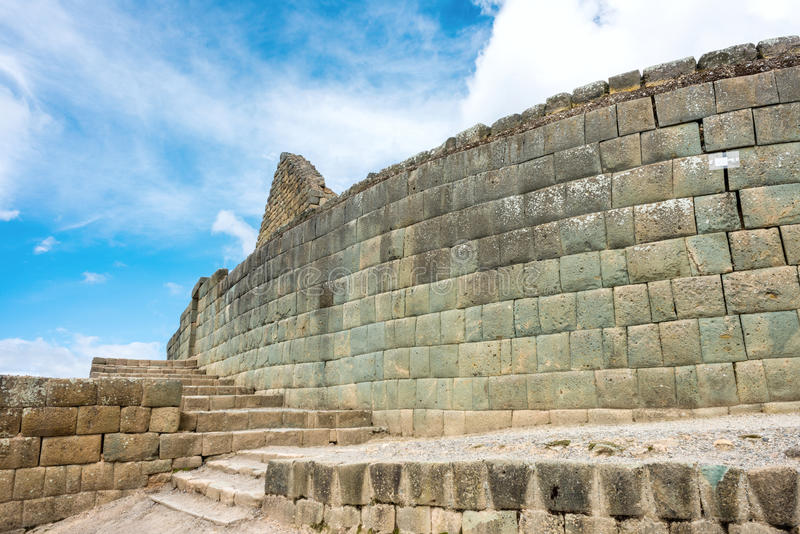 Mur d'Inca d'Ingapirca en Equateur images stock