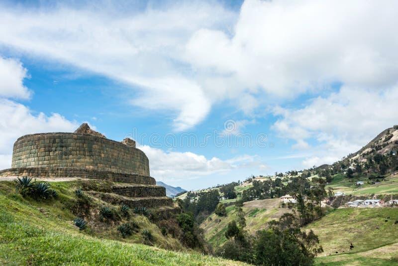 Mur d'Inca d'Ingapirca en Equateur photographie stock