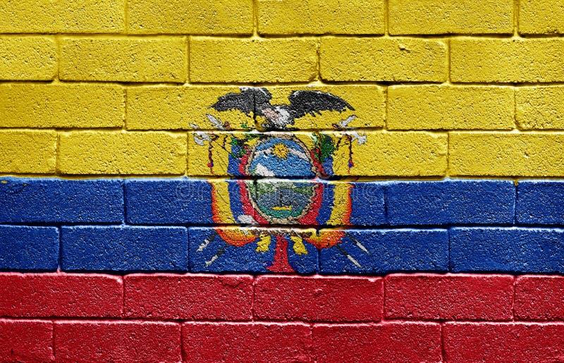 mur d'indicateur de l'Equateur de brique images stock