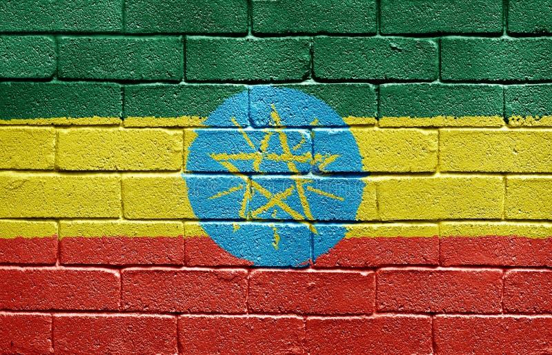 mur d'indicateur de l'Ethiopie de brique photographie stock