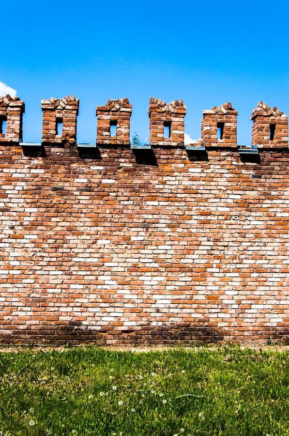 Mur d'une brique rouge photos stock