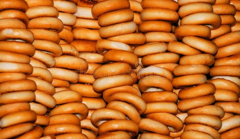Mur de bagels. photographie stock