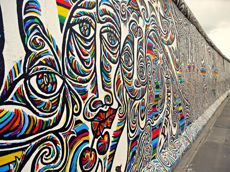 Mur de Berlin photographie stock