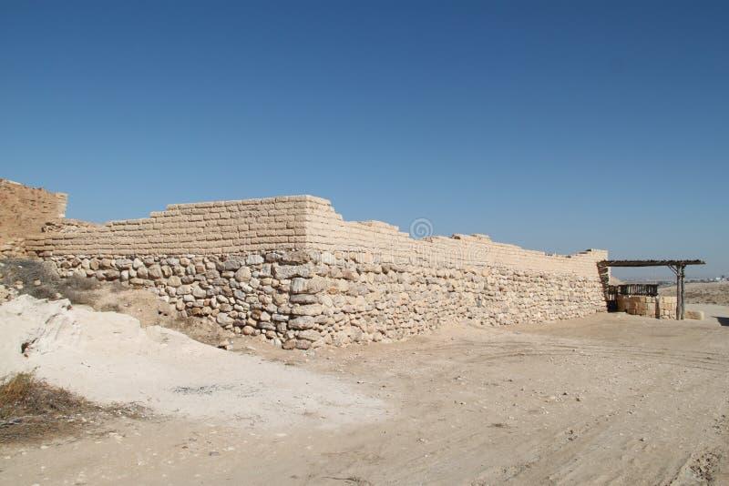 Mur de bière Sheva, Israël de téléphone photographie stock