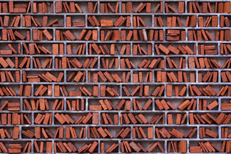 Mur de bibliothèque photographie stock