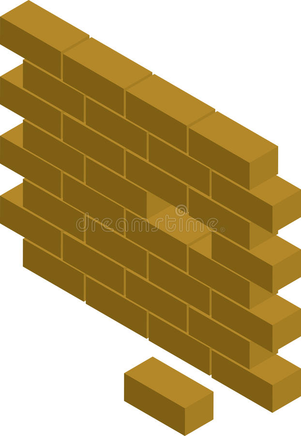 Mur de bloc illustration libre de droits