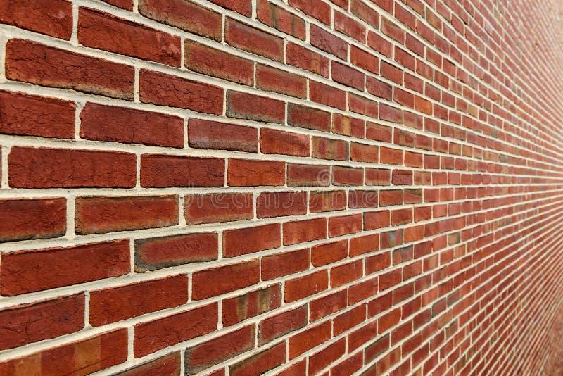 Mur de briques avec la perspective de diminution photo libre de droits