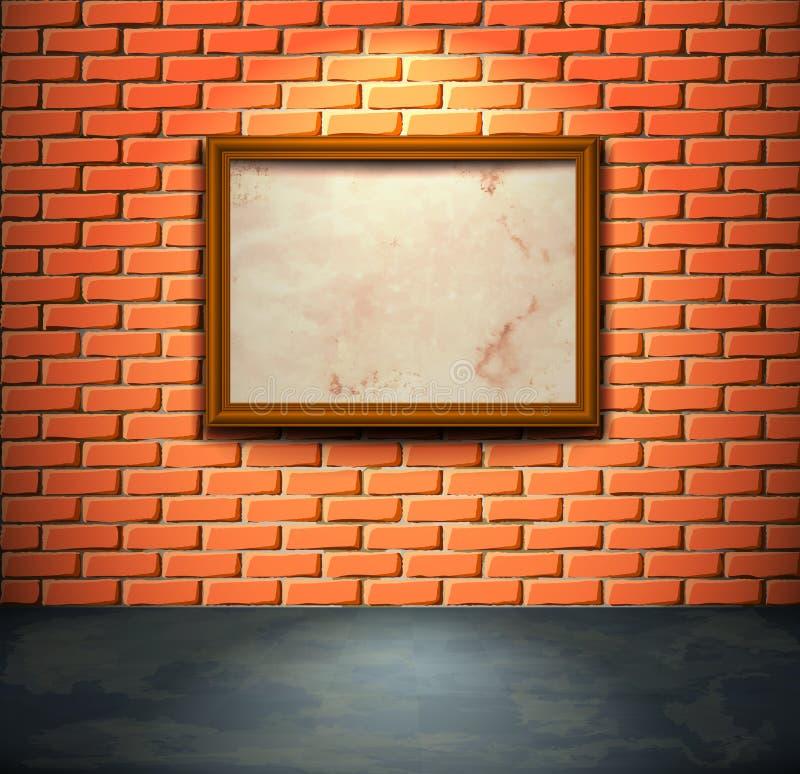 Mur de briques avec la trame illustration libre de droits