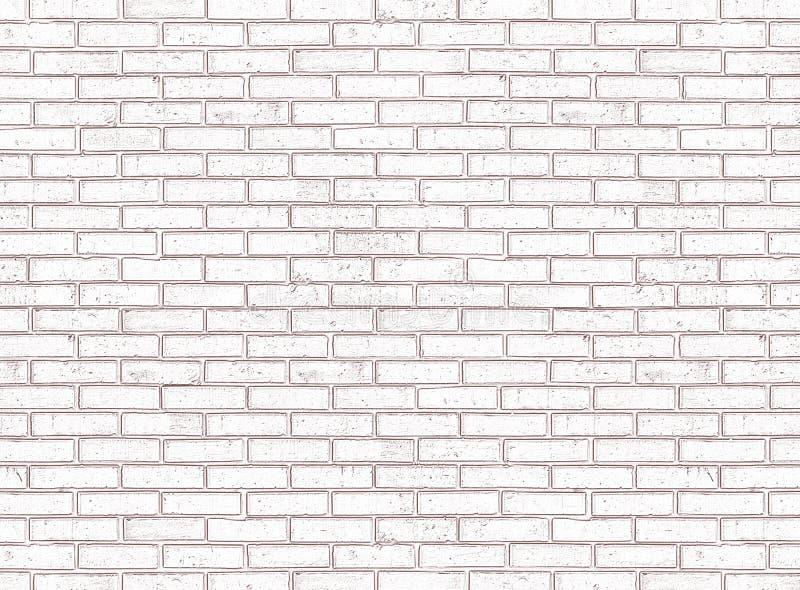 Mur de briques blanc sans joint photos libres de droits