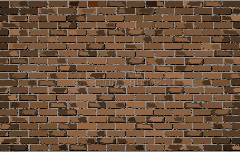 Mur de briques de Brown illustration libre de droits
