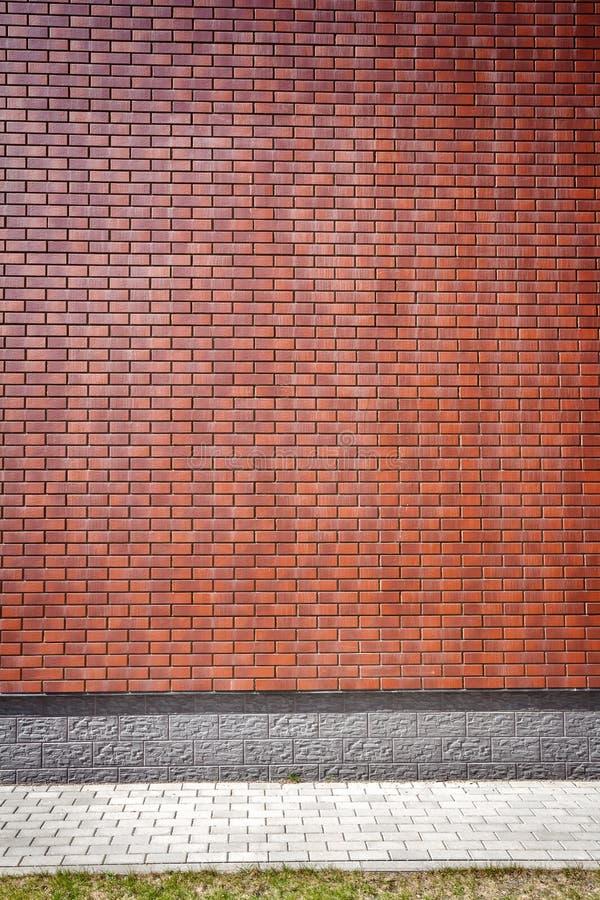 Mur de briques brun vibrant image stock