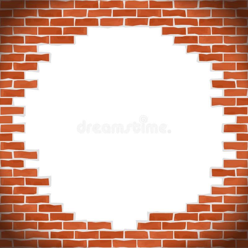 Mur de briques cassé illustration libre de droits
