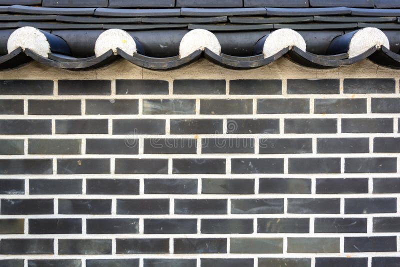 Mur de briques coréen de style photos libres de droits