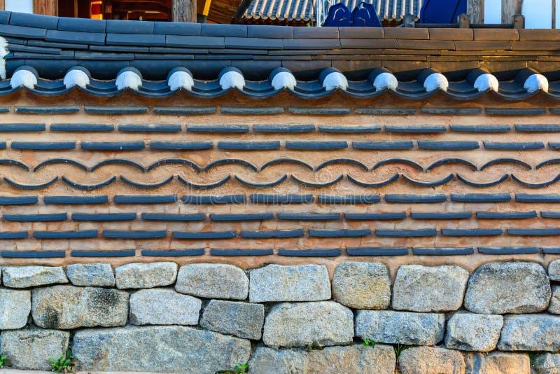 Mur de briques coréen de style photographie stock libre de droits