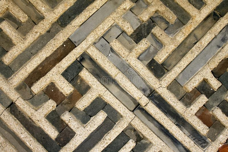 Mur de briques coréen traditionnel photographie stock