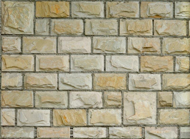 Mur de briques décoratif neuf image libre de droits