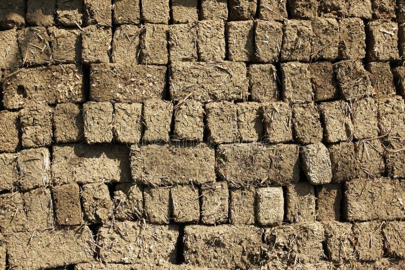 Mur de briques d'argile photo stock