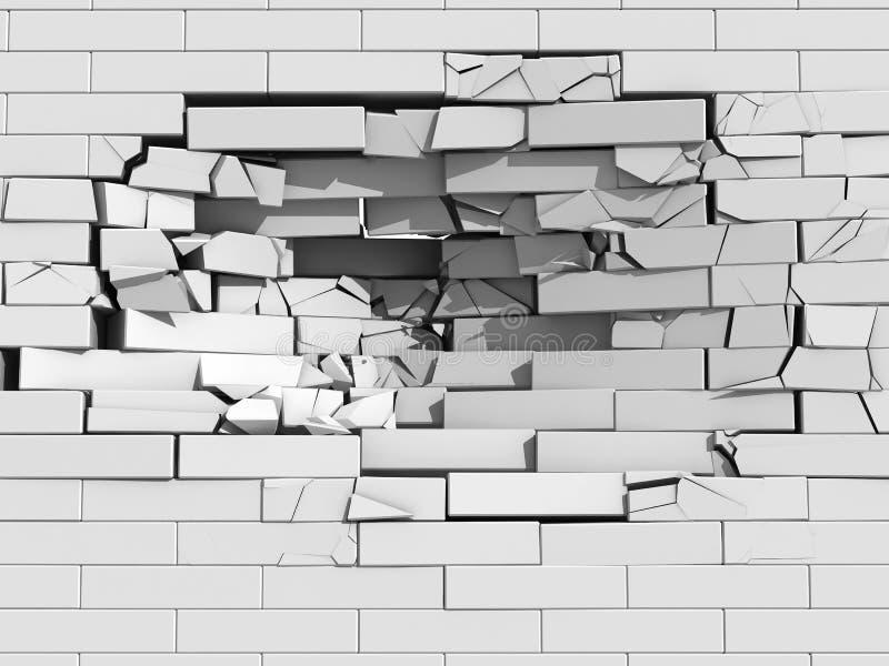 Mur de briques de émiettage illustration libre de droits