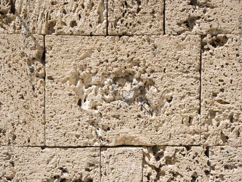 Mur de briques de sable photos stock
