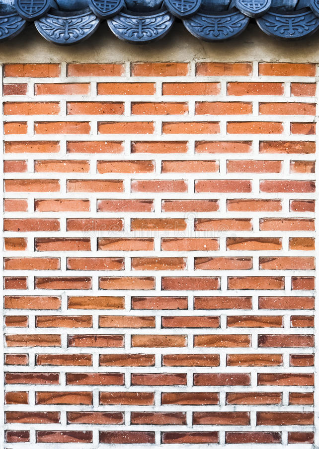 Mur de briques de type de la Corée image stock