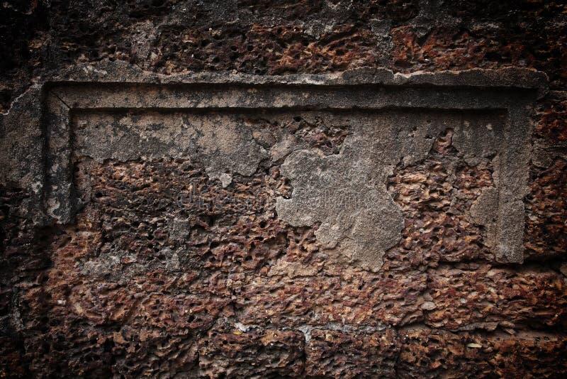 mur de briques en pierre de latérite photographie stock libre de droits