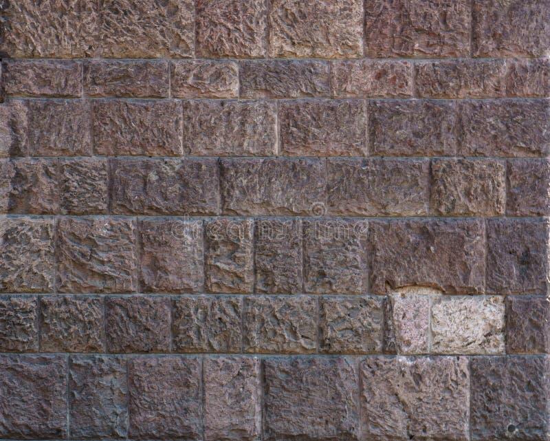 Mur de briques Grands fond et texture bruns de mur de briques Mur de briques rouge-brun avec la structure minable Rétro façade de image libre de droits