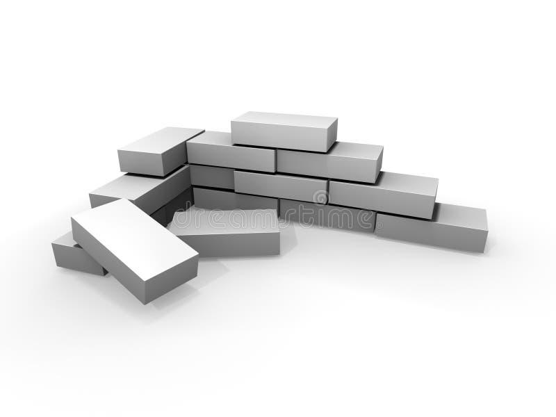 Mur de briques gris illustration libre de droits