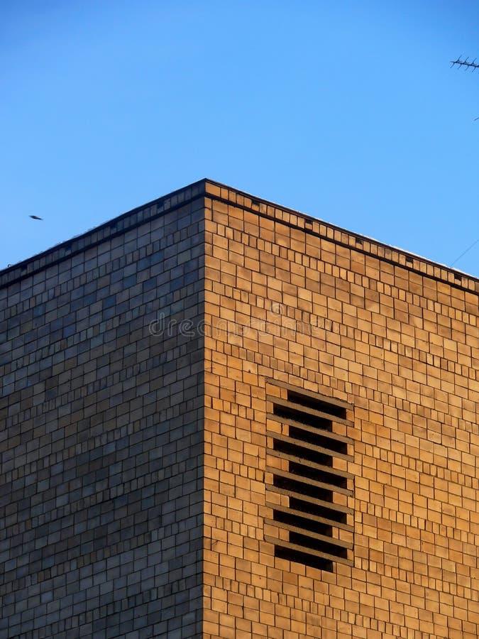 Mur de briques. La vieille maison. Moscou. photographie stock libre de droits