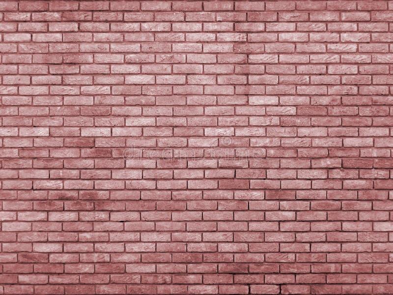 Mur de briques modifié la tonalité rouge pâle photo libre de droits