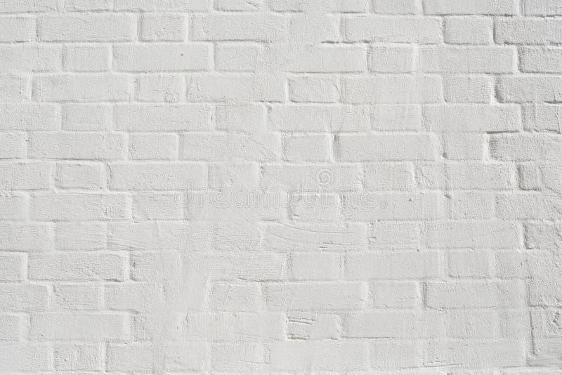 Mur de briques peint blanc image stock