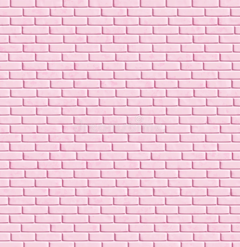 Mur de briques rose, fond illustration de vecteur