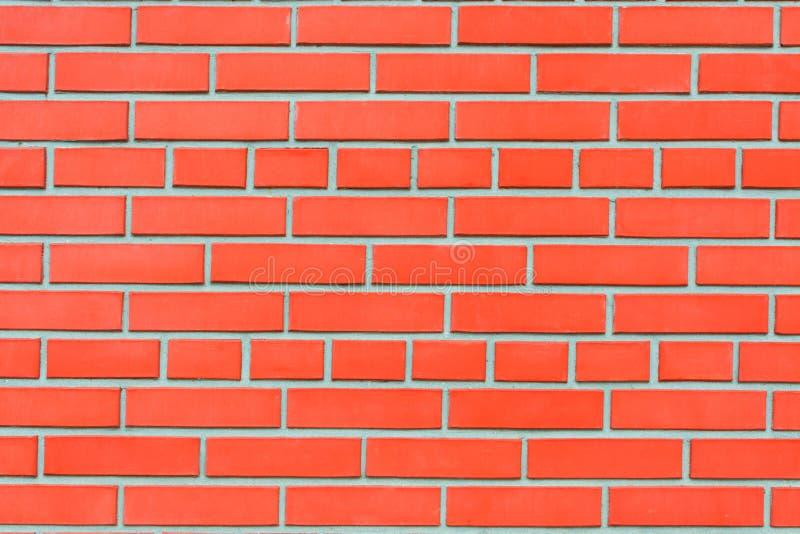 Mur de briques rouge avec une maçonnerie idéale, fond images libres de droits